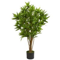 4' Dracaena Artificial Tree - h: 4 ft. w: 25 in. d: 23 in
