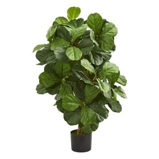 3.5' Fiddle Leaf Artificial Tree - h: 3.5 ft. w: 26 in. d: 24 in
