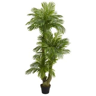 5' Triple Phoenix Palm Artificial Tree - h: 5 ft. w: 11 in. d: 6 in