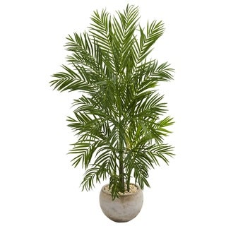 5' Areca Palm Artificial Tree in Bowl Planter - h: 5 ft. w: 31 in. d: 25 in