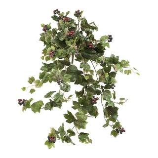 """24"""" Grape Leaf Hanging Artificial Plant (Set of 2) - h: 24 in. w: 8 in. d: 5 in"""