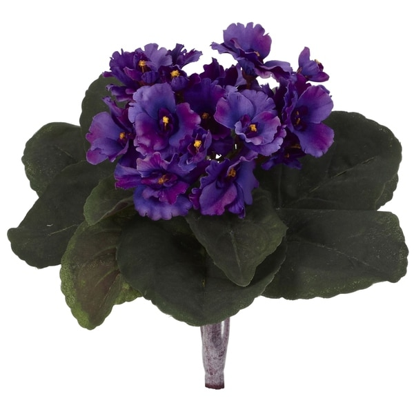 "9"" African Violet Artificial Plant (Set of 6) - h: 9 in. w: 8 in. d: 8 in"