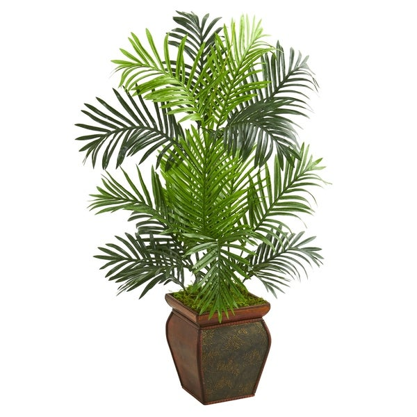 3' Paradise Palm Artificial Tree in Decorative Planter - h: 3 ft. w: 22 in. d: 17 in