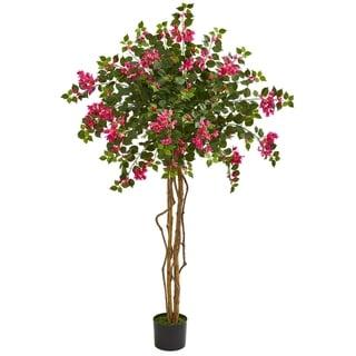 5.5' Bougainvillea Artificial Tree - h: 5.5 ft. w: 19 in. d: 19 in