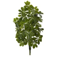 32'' Green Baby Schefflera Artificial Plant (Real Touch) (Set of 2) - h: 32 in. w: 14 in. d: 8 in