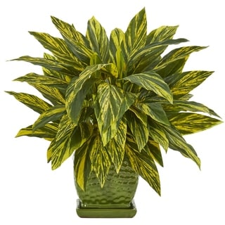 Tradescantia Artificial Plant in Green Planter - h: 17 in. w: 18 in. d: 17 in