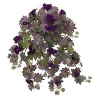 """27"""" Gloxinia Hanging Artificial Plant (Set of 2) - h: 27 in. w: 17 in. d: 17 in"""