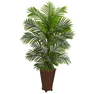 5' Kentia Palm Artificial Tree in Decorative Planter - h: 5 ft. w: 20 in. d: 15 in