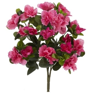 "13"" Azalea Artificial Plant (Set of 4) - h: 13 in. w: 12 in. d: 10 in"