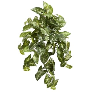 """34"""" Nepthytis Hanging Artificial Plant (Set of 3) - h: 34 in. w: 26 in. d: 16 in"""