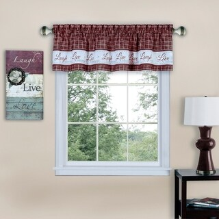 Live, Love, Laugh Window Curtain Valance - 58x14