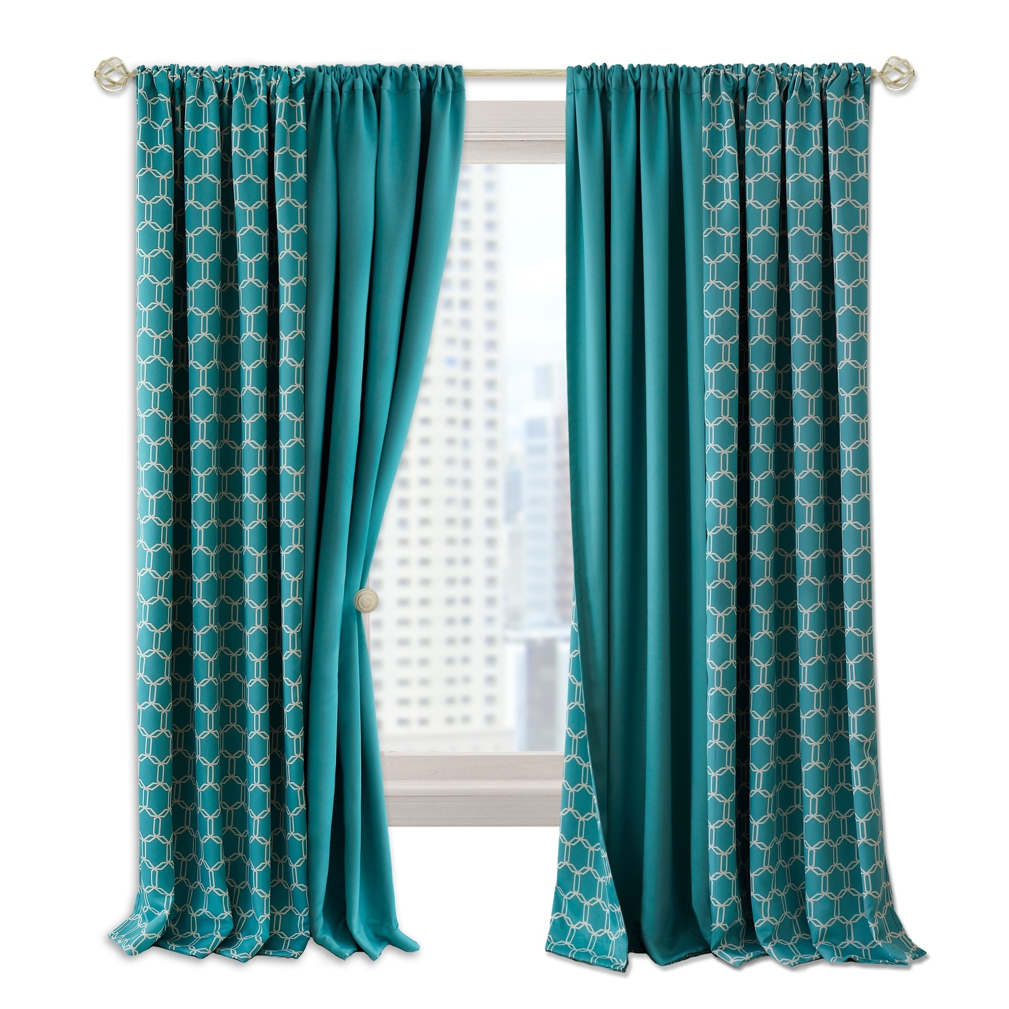 Prelude Reversible Blackout Rod Pocket Curtain Panel Overstock 20942645 50 W X 84 L Inches 84 Inches Black
