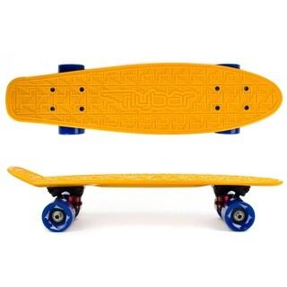 Flybar- Plastic Cruiser Board - Orange - Blue wheels