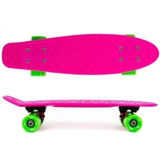 Flybar- Plastic Cruiser Board - Pink - Green wheels