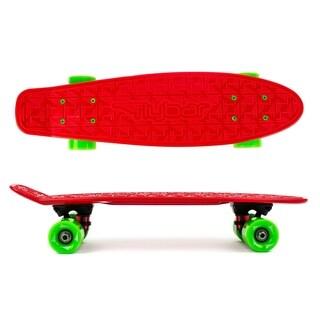 Flybar- Plastic Cruiser Board - Red - Green wheels