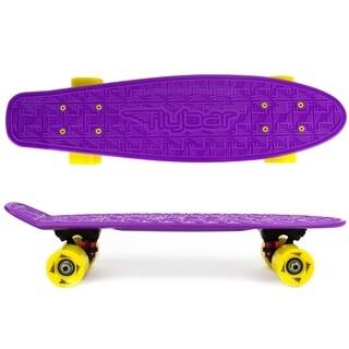 Flybar- Plastic Cruiser Board - Purple - Yellow wheels