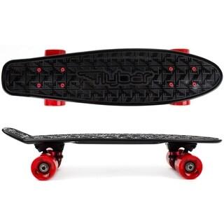 Flybar- Plastic Cruiser Board - Black - Red Wheels