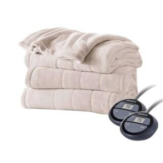 Shop Sunbeam Channeled Velvet Plush Electric Blanket King