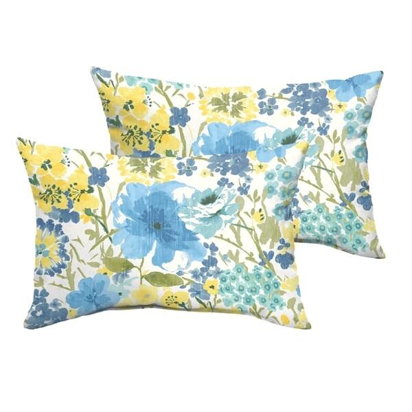Shop Humble Haute Indoor Outdoor Blue Yellow Floral