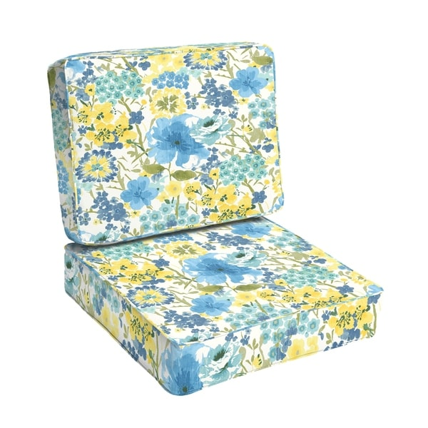 Shop Humble Haute Indoor Outdoor Blue Yellow Floral Chair