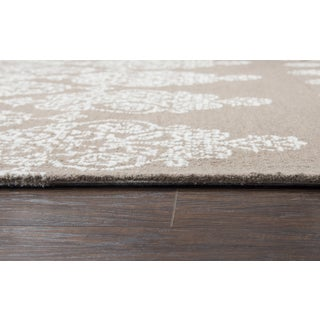 "Rizzy Home Legacy Ivory Light Brown Area Rug - 2'6"" x 8'"