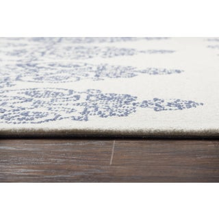 "Rizzy Home Legacy Blue Ivory Area Rug - 2'6"" x 8'"