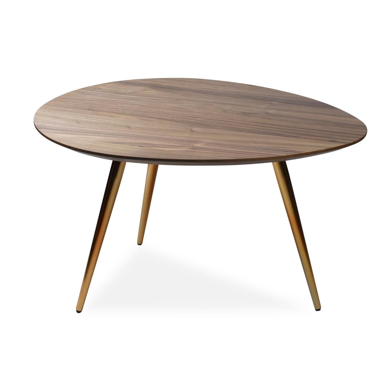 Small Mid Century Modern Living Room Wood Coffee Table