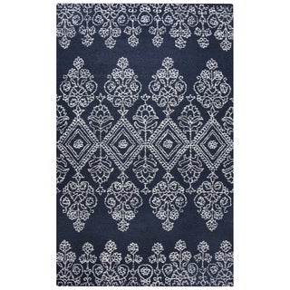 "Rizzy Home Legacy Ivory Navy Area Rug - 2'6"" x 8'"
