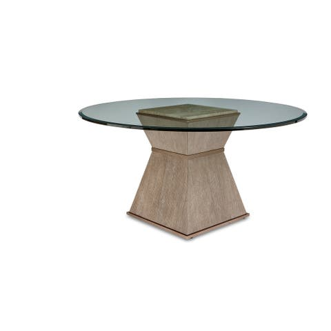 """A.R.T. Furniture Cityscapes Hancock Round Dining Table w/ 54"""" Glass Top"""