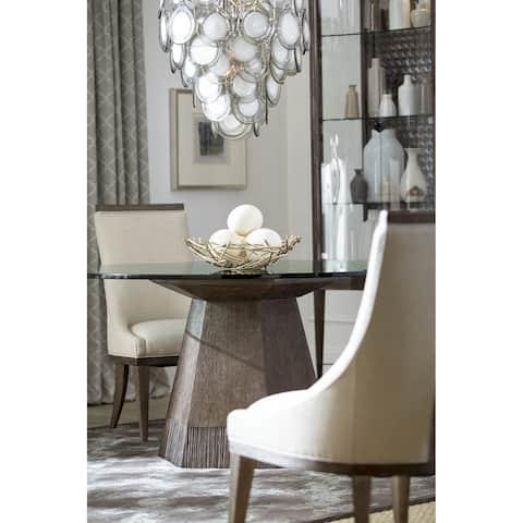 "A.R.T. Furniture Geode - Bluff Round Dining w/ 54"" Glass Top"