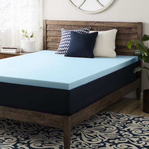 1.5 Inch Gel Memory Foam Mattress Topper - Crown Comfort