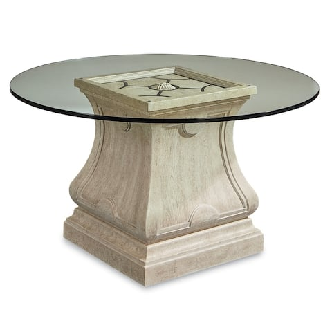 """A.R.T. Furniture Arch Salvage Leoni Round Dining w/60"""" Glass Top"""