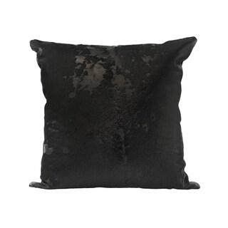 Aurelle Home Black Leather Pillow
