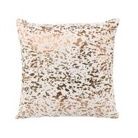 Aurelle Home Glam Leather and Gold Modern Pillow