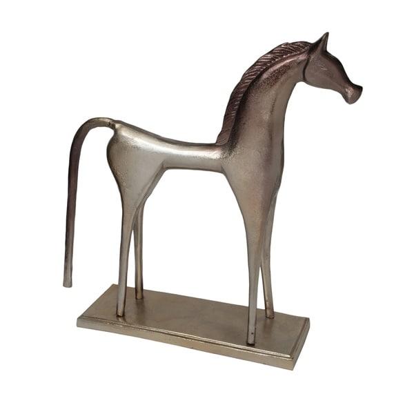Solid Aluminum Contemporary Modern Classic Horse Statue