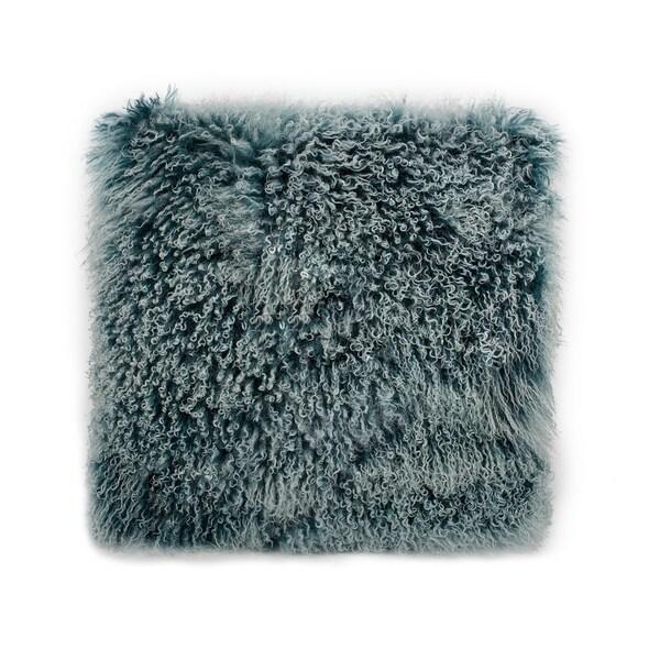 Aurelle Home Glam Teal Lamb Large Pillow