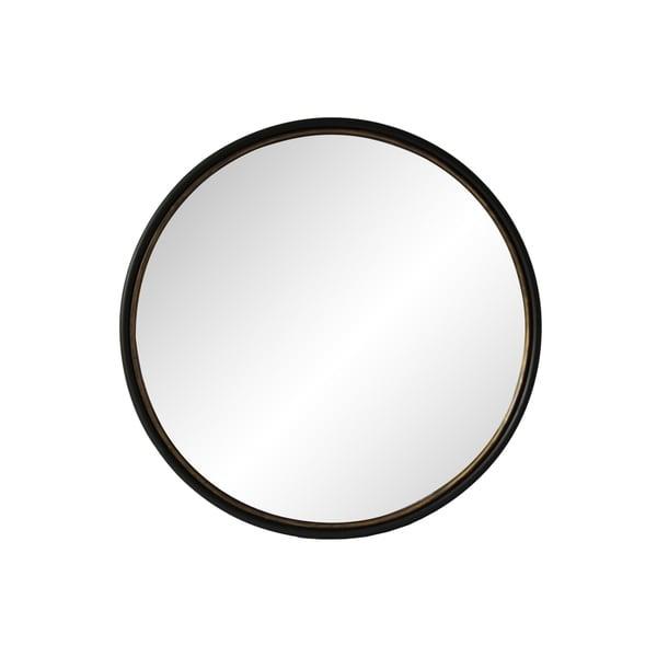 Aurelle Home Black 37.5-inch Modern Round Mirror. Opens flyout.