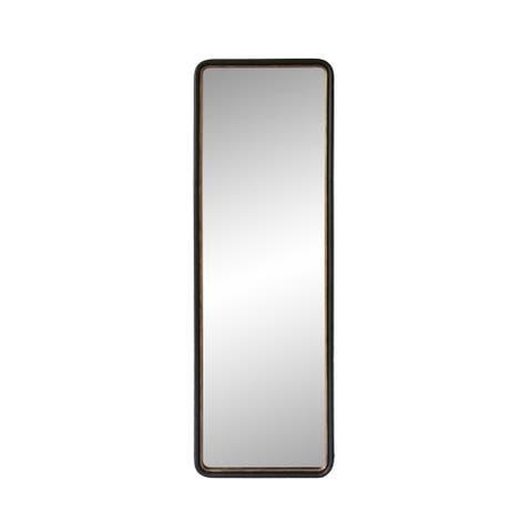 "Aurelle Home Black 65-inch Modern Tall Rectangular Mirror - 23"" x 70"""