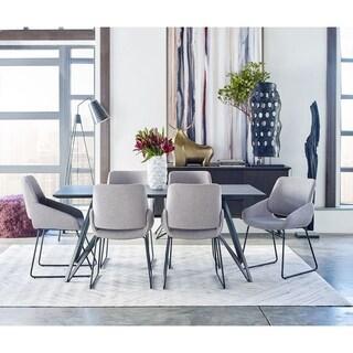 Aurelle Home Silver Contemporary Modern Area Rug (8' x 10') - 8' x 10'