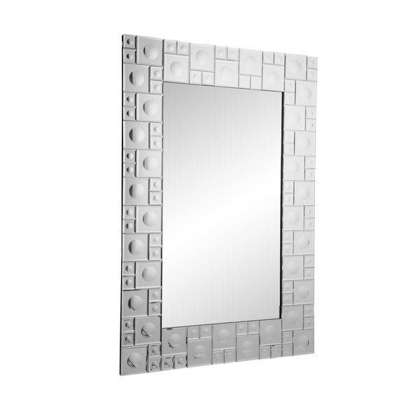 Aurelle Home Large Contemporary Framed Mirror Clear N A
