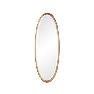 Aurelle Home Contemporary Solid Oak Mirror - Brown - N/A