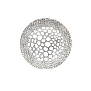 Aurelle Home Solid Large Metal Silver Wall Sculpture