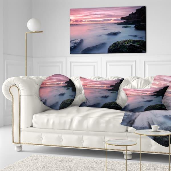Designart Emerge From Water Samarra Beach Seashore Throw Pillow On Sale Overstock 20943999