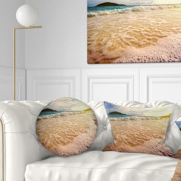 Designart 'Vintage Style Beach at Similan Park' Seashore Throw Pillow