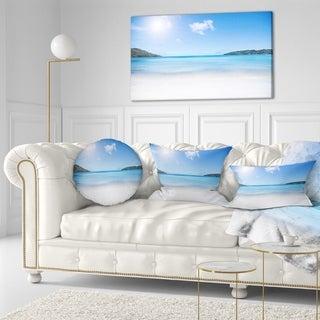 Designart 'Calm Beach of Azure Indian Ocean' Seashore Throw Pillow