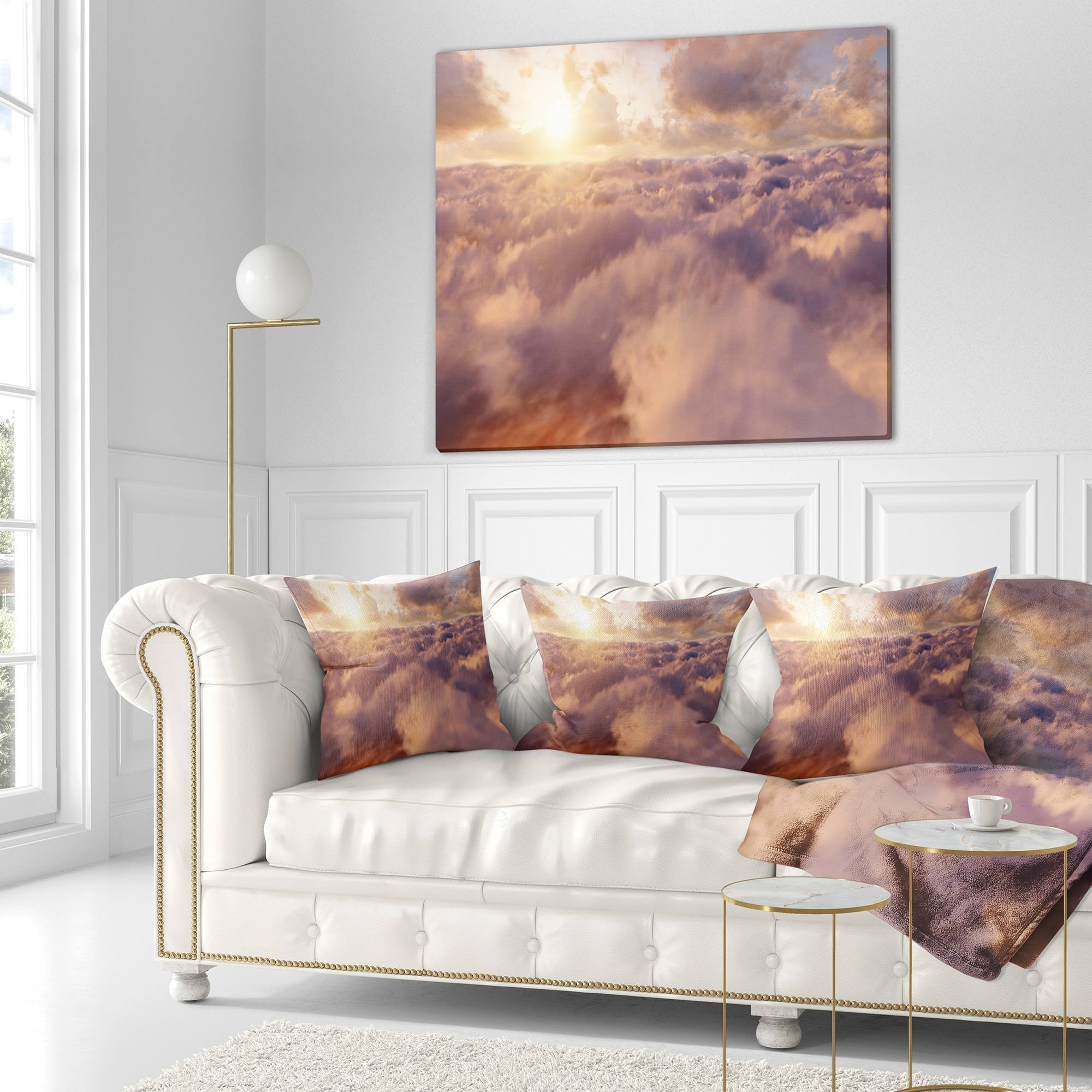 Designart Amazing Sky Above Clouds Contemporary Landscape Printed Throw Pillow On Sale Overstock 20944256