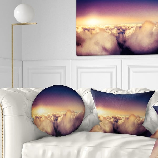Blue Sky Over Clouds Panorama Landscape Wall Art Canvas Print On Sale Overstock 12302649