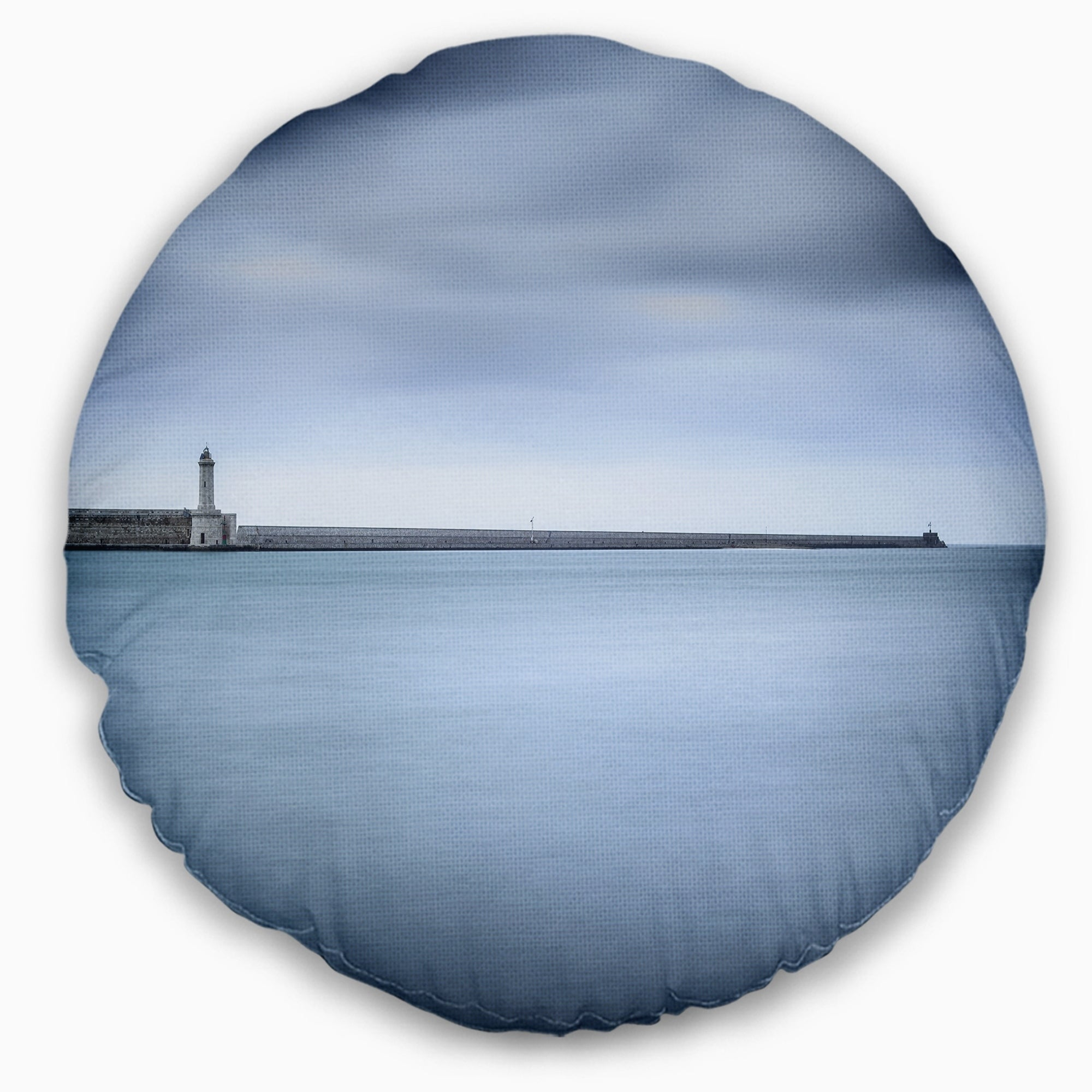 Designart Breakwater And Soft Water Under Clouds Landscape Wall Throw Pillow On Sale Overstock 20944632
