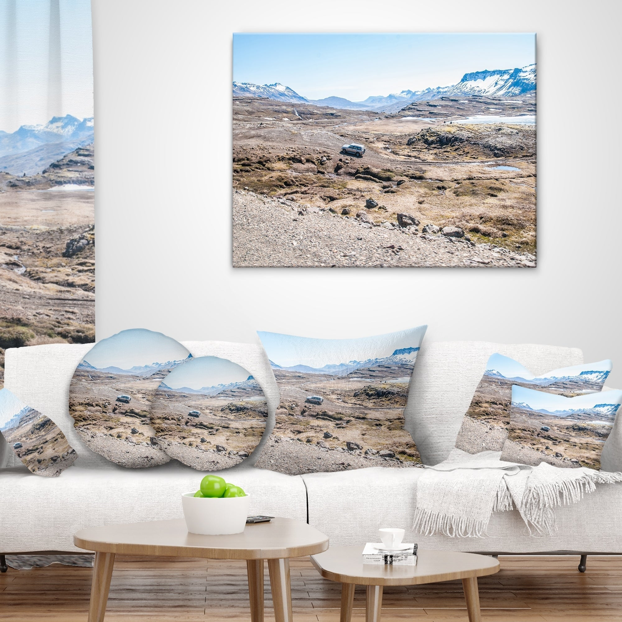 Designart Off Road Iceland Mountains Landscape Printed Throw Pillow On Sale Overstock 20944688