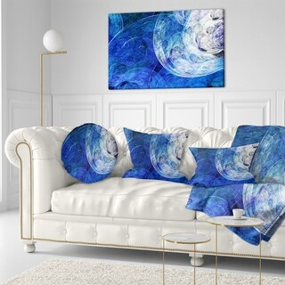 Designart 'Blue Swirling Clouds' Abstract Throw Pillow (More options available)